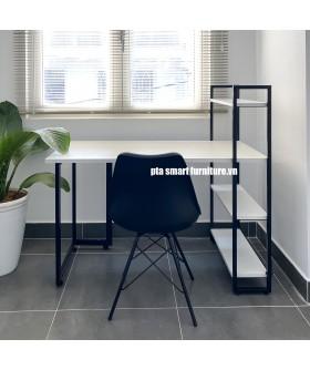 PTA TABLE WHIT SHELF WHITE